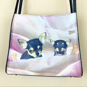Chihuahua puppy dog purse handbag bag rhinestone